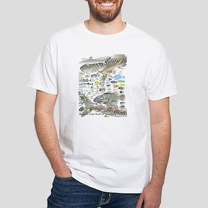 Fish ID Chart White T-Shirt