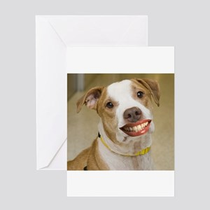 Pit Bull with Lipstick Greeting Card
