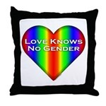 Love Knows No Gender Throw Pillow
