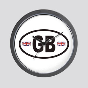GB Great Britain Euro Style Wall Clock