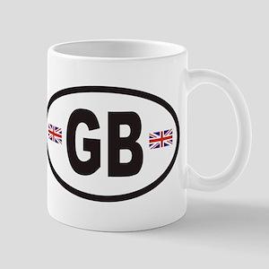 GB Great Britain Euro Style Mug
