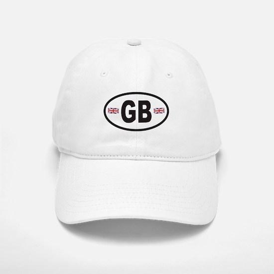 GB Great Britain Euro Style Baseball Baseball Cap