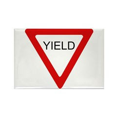 Yield Sign - Rectangle Magnet (100 pack)