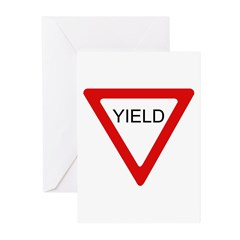 Yield Sign - Greeting Cards (Pk of 10)