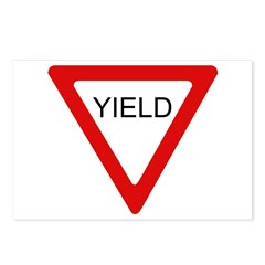 Yield Sign - Postcards (Package of 8)