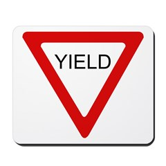 Yield Sign - Mousepad