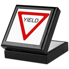 Yield Sign - Keepsake Box