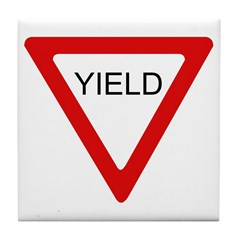Yield Sign - Tile Coaster
