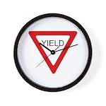 Yield Sign - Wall Clock