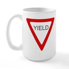 Yield Sign - Large Mug