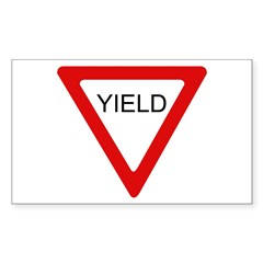 Yield Sign - Rectangle Decal