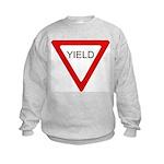 Yield Sign - Kids Sweatshirt