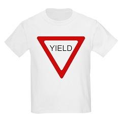 Yield Sign - Kids T-Shirt