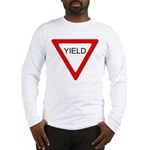 Yield Sign - Long Sleeve T-Shirt