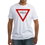 Yield Sign - Fitted T-Shirt