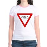 Yield Sign - Jr. Ringer T-Shirt