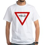 Yield Sign - White T-Shirt