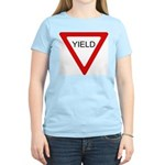 Yield Sign - Women's Pink T-Shirt