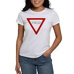 Yield Sign - Women's T-Shirt