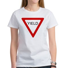 Yield Sign - Women's T-Shirt