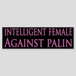 intelligent female Bumper Sticker