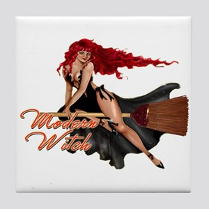 Sexy Modern Witch Tile Coaster