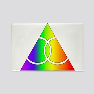 Gay Marriage Rainbow Symbol Rectangle Magnet