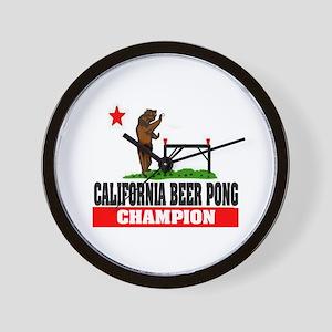 """""""California Beer Pong Champion"""" Wall Clock"""