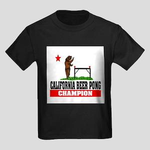 """California Beer Pong Champion"" Kids Dark T-Shirt"