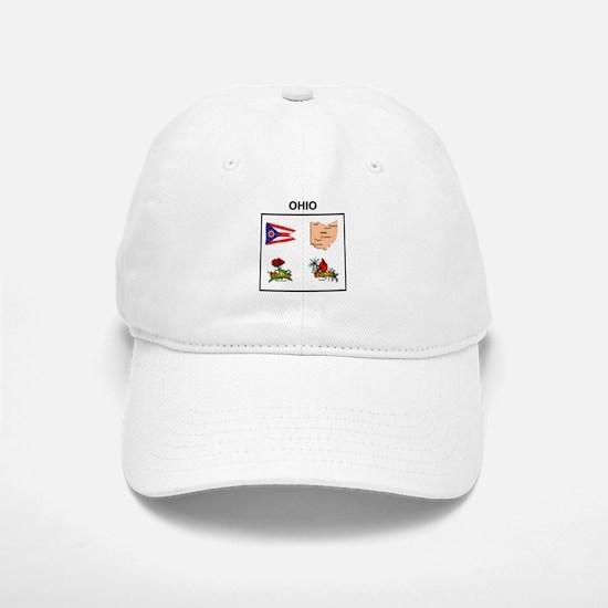 stae of ohio design Baseball Baseball Cap