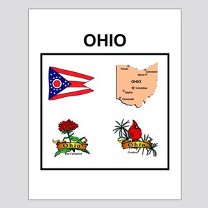 stae of ohio design Small Poster