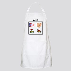 stae of ohio design BBQ Apron
