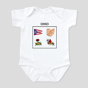 stae of ohio design Infant Bodysuit