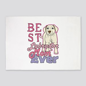 Best Labrador Mom Ever Dog Gifts 5'x7'Area Rug