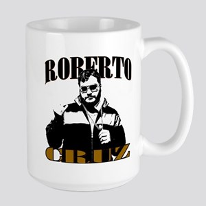 Roberto Cruz B&w 15 Oz Mugs
