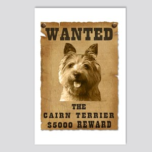 """""""Wanted"""" Cairn Terrier Postcards (Package of 8)"""