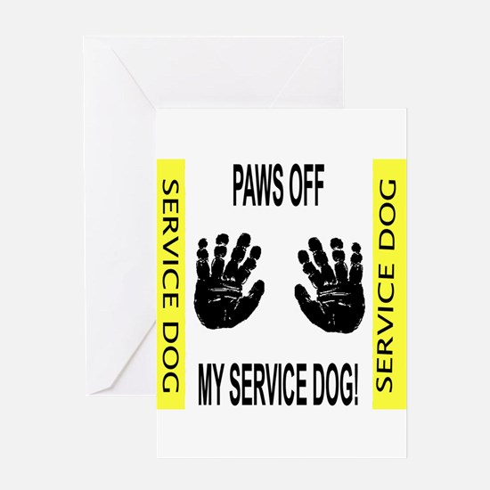 """Paws Off"" Greeting Card"