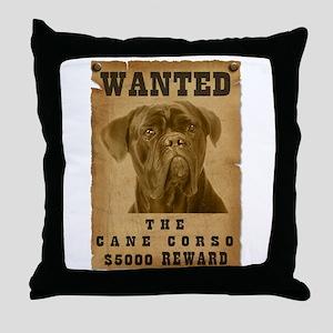 """""""Wanted"""" Cane Corso Throw Pillow"""
