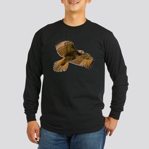 Red-Tailed Hawk Long Sleeve Dark T-Shirt