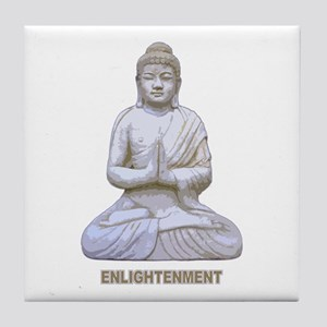 Buddha Buddhism Enlightenment Tile Coaster