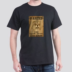 """Wanted"" Chow Chow Dark T-Shirt"