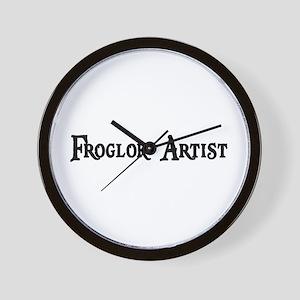 Froglok Artist Wall Clock