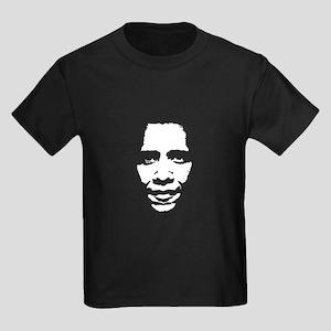 Obama - Face Kids Dark T-Shirt