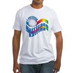 I SURVIVED HURRICANE KATRINA Fitted T-Shirt