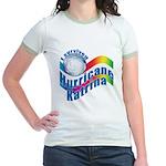 I SURVIVED HURRICANE KATRINA Jr. Ringer T-Shirt