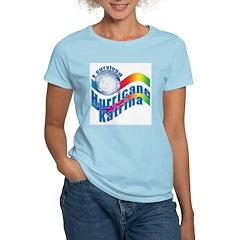I SURVIVED HURRICANE KATRINA Women's Pink T-Shirt
