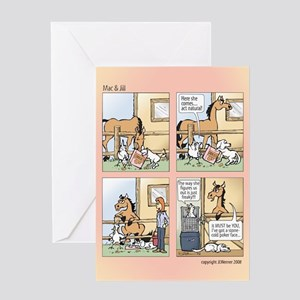 "Mac & Jill ""Red Handed"" Card"