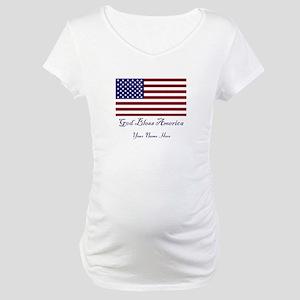 God Bless America Maternity T-Shirt