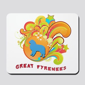 Groovy Great Pyrenees Mousepad