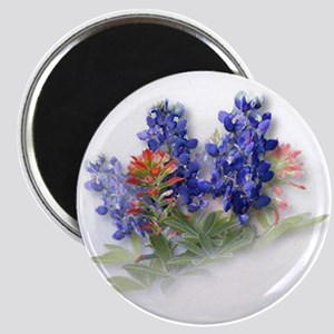 "Bluebonnets with Indian Paint 2.25"" Magnet (10 pac"